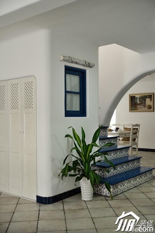 地中海风格复式唯美蓝色经济型楼梯设计图