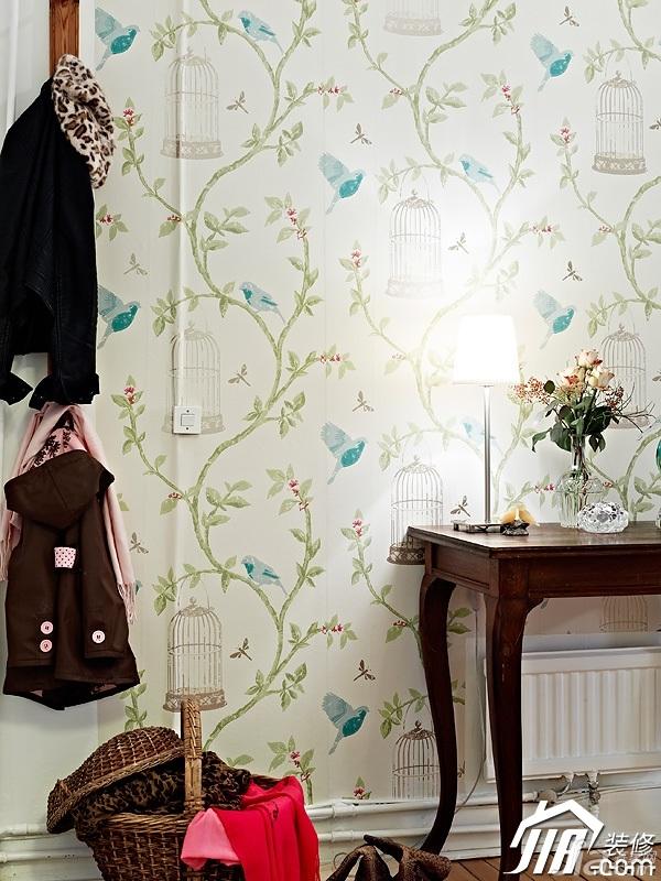 北欧风格公寓小清新白色经济型90平米门厅灯具效果图