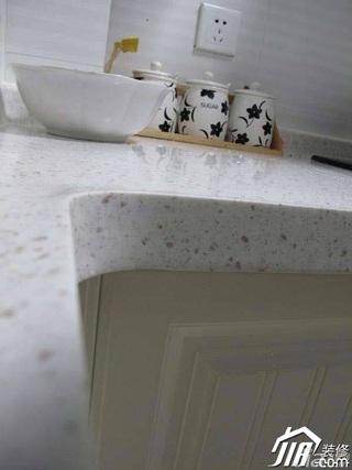 简约风格公寓实用白色5-10万厨房效果图