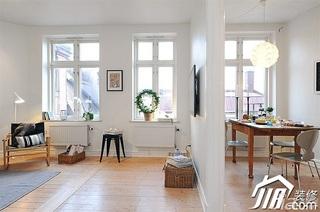 北欧风格小户型小清新白色经济型50平米客厅灯具效果图