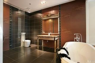 新古典风格别墅奢华米色豪华型卫生间洗手台效果图