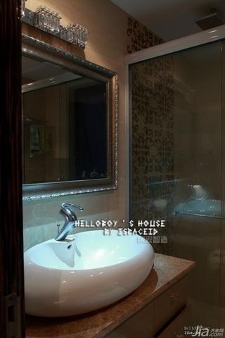 简约风格别墅豪华型120平米卫生间洗手台图片