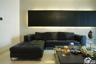 简约风格公寓稳重冷色调豪华型130平米客厅背景墙沙发效果图