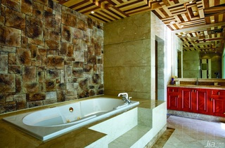 别墅大气豪华型140平米以上卫生间洗手台效果图