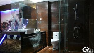 小户型黑色豪华型40平米卫生间洗手台图片