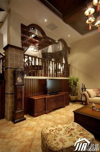 欧式风格别墅奢华暖色调豪华型140平米以上客厅沙发效果图