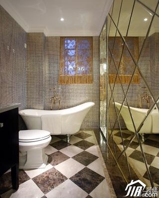 欧式风格奢华豪华型130平米卫生间背景墙效果图