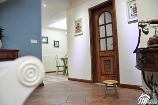 地中海风格复式富裕型客厅过道设计图纸