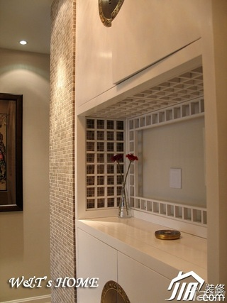 中式风格公寓富裕型玄关设计