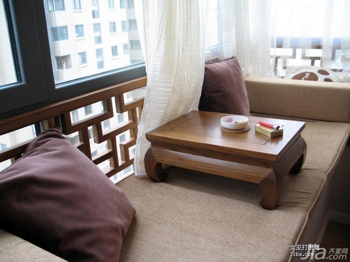 中式风格公寓富裕型飘窗装修效果图