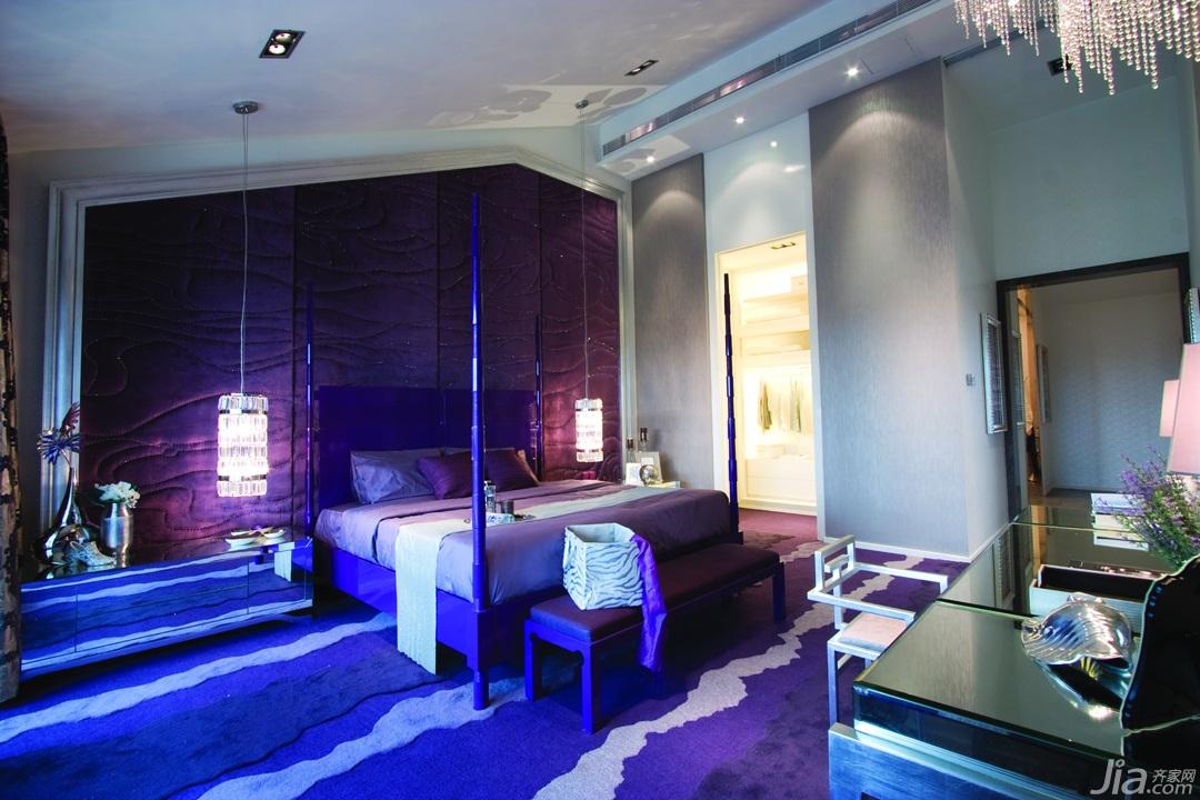欧式风格公寓奢华豪华型140平米以上卧室卧室背景墙床图片