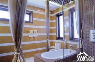 混搭风格别墅豪华型浴缸图片