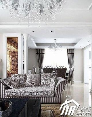 欧式风格公寓奢华20万以上客厅沙发效果图