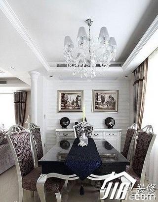 欧式风格公寓奢华20万以上餐厅餐厅背景墙餐桌效果图
