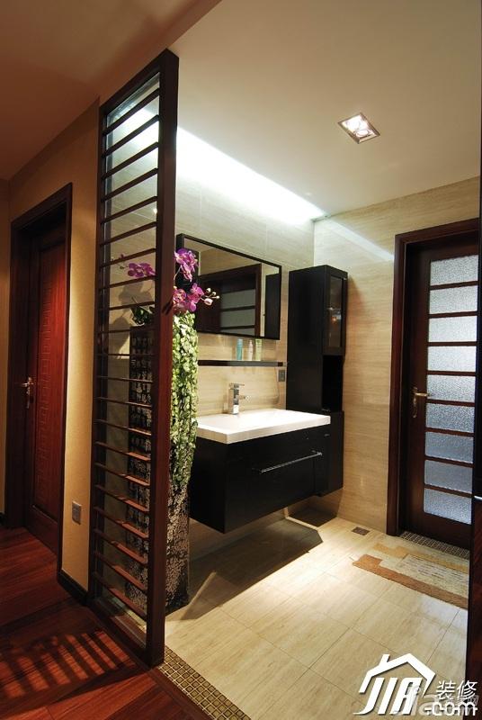 新古典风格公寓富裕型隔断浴室柜效果图
