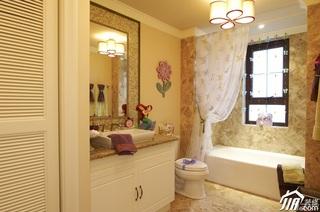 混搭风格别墅豪华型浴室柜效果图