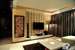 美式风格二居室大气米色富裕型客厅电视背景墙沙发效果图