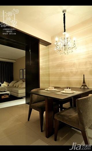 美式风格二居室大气米色富裕型餐厅餐桌效果图
