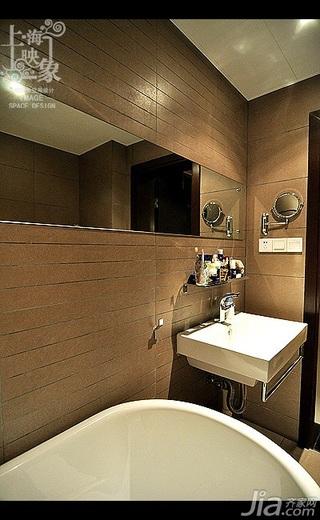 美式风格二居室大气米色富裕型浴室柜效果图
