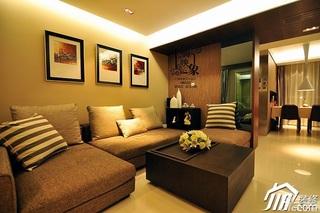美式风格二居室大气富裕型客厅沙发背景墙沙发效果图