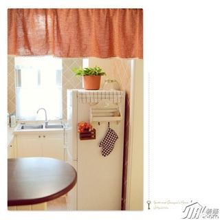 日式风格公寓简洁白色经济型厨房效果图