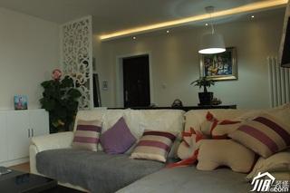 简约风格公寓经济型80平米客厅客厅隔断沙发效果图