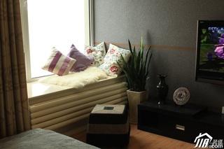 简约风格公寓经济型80平米飘窗电视柜效果图