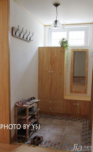 田园风格公寓小清新经济型80平米玄关衣柜效果图