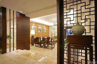 中式风格三居室大气原木色豪华型140平米以上客厅客厅隔断效果图