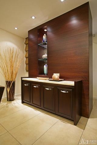 中式风格三居室大气原木色豪华型140平米以上餐边柜效果图