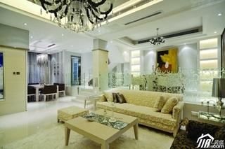 简约风格别墅冷色调豪华型140平米以上客厅客厅隔断沙发效果图