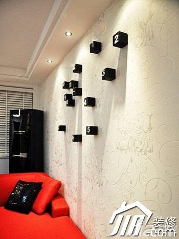 简约风格公寓简洁豪华型客厅背景墙装修图片