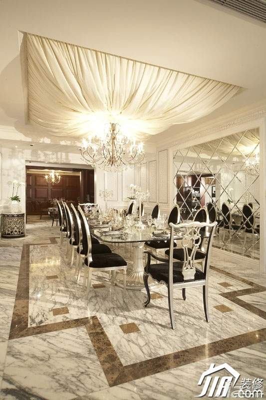 混搭风格别墅奢华豪华型餐厅餐桌效果图