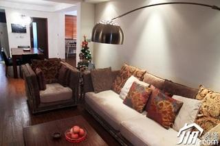 日式风格三居室温馨暖色调富裕型90平米客厅沙发效果图