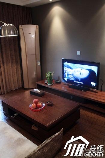 日式风格三居室温馨暖色调富裕型90平米茶几图片