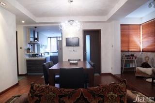 日式风格三居室温馨暖色调富裕型90平米餐厅餐桌效果图