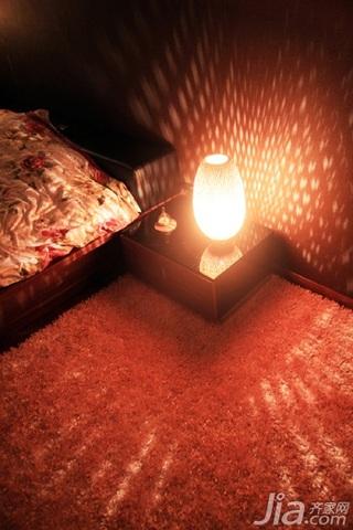 日式风格三居室温馨暖色调富裕型90平米灯具效果图
