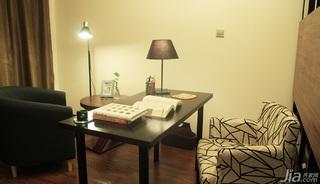 日式风格三居室温馨暖色调富裕型90平米书房书桌效果图