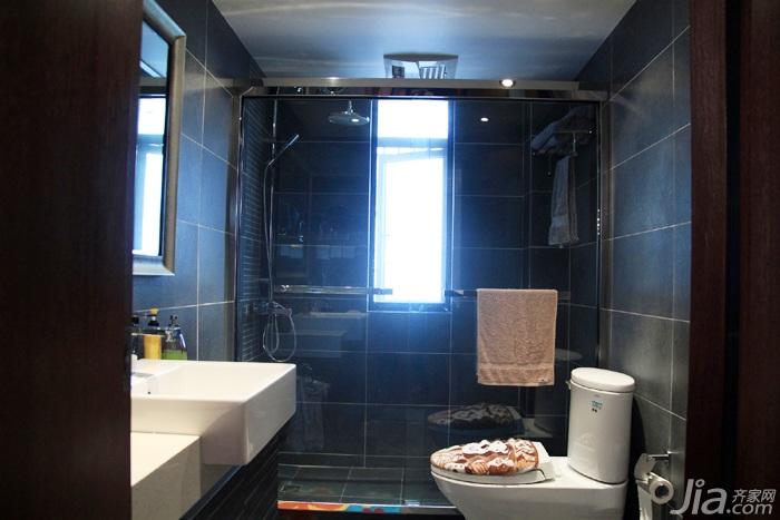 日式风格三居室温馨暖色调富裕型90平米卫生间设计
