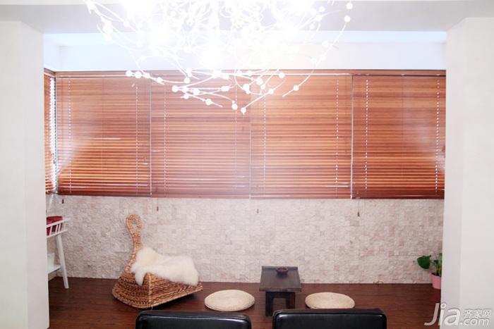 日式风格三居室温馨暖色调富裕型90平米榻榻米设计图纸