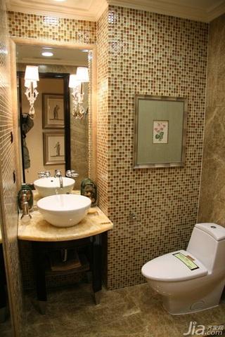 简约风格二居室大气暖色调豪华型浴室柜图片