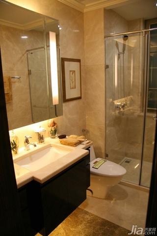 简约风格二居室大气暖色调豪华型浴室柜效果图