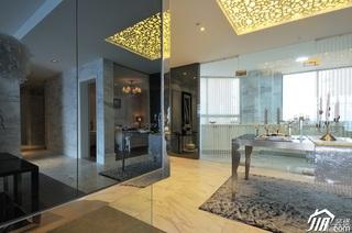 欧式风格四房大气白色富裕型过道餐桌效果图