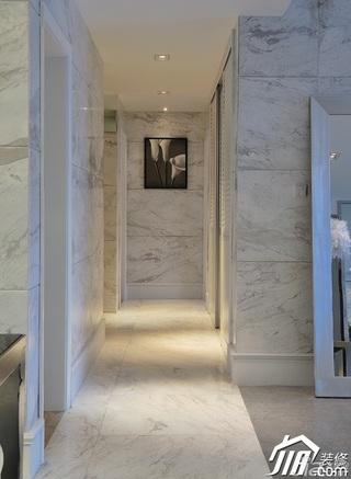 欧式风格四房大气白色富裕型过道效果图