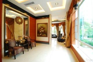 欧式风格别墅豪华型阳台窗帘图片