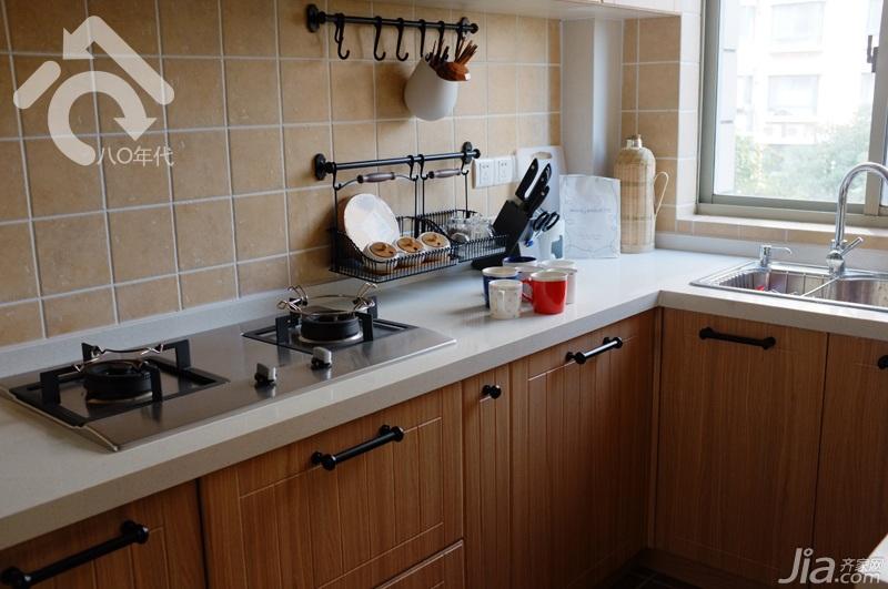 简约风格小户型小清新白色经济型60平米厨房橱柜设计图纸图片