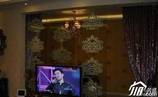 中式风格复式15-20万120平米客厅隔断装修图片
