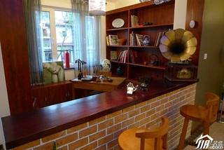 混搭风格别墅古典豪华型吧台吧台椅效果图