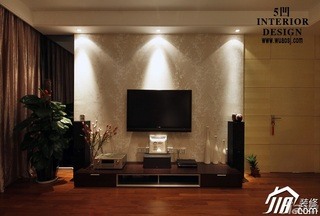 简约风格公寓富裕型130平米电视背景墙电视柜效果图
