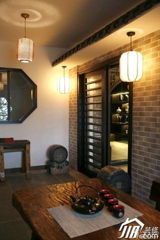 中式风格别墅富裕型茶室装修